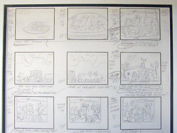 1020: 1960's Flintstones/Great Gazoo story board