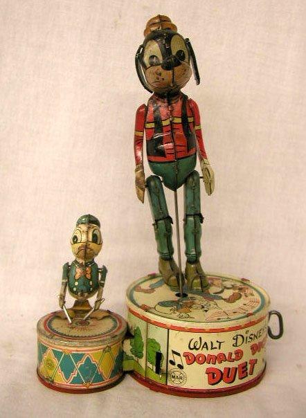 1163: Marx Tin Windup Donald Duck Duet