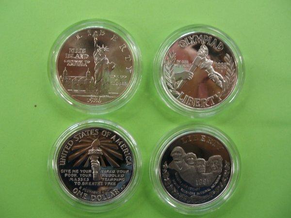 2012: 4 commemorative proof dollars