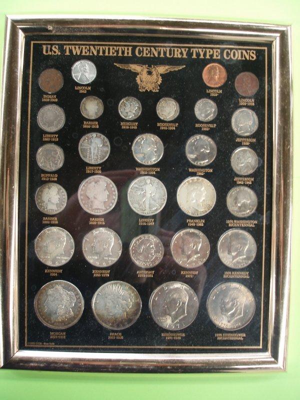 2013: Framed U.S. 20th c. Coins