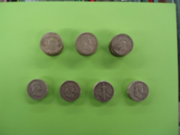 2014: 57 U.S. silver half dollars