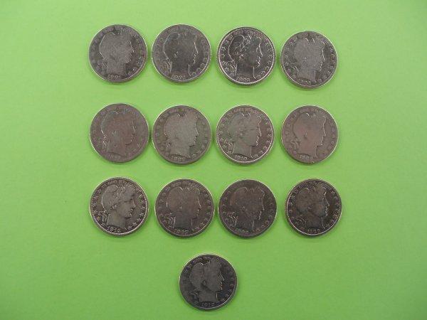 2019: 13 Barber silver half dollars