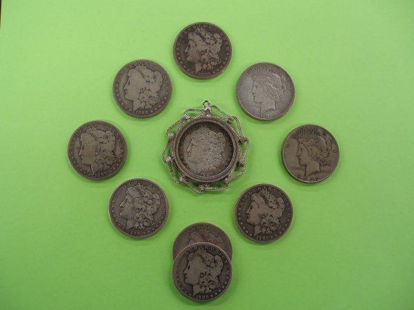 2020: 10 U.S. silver dollars