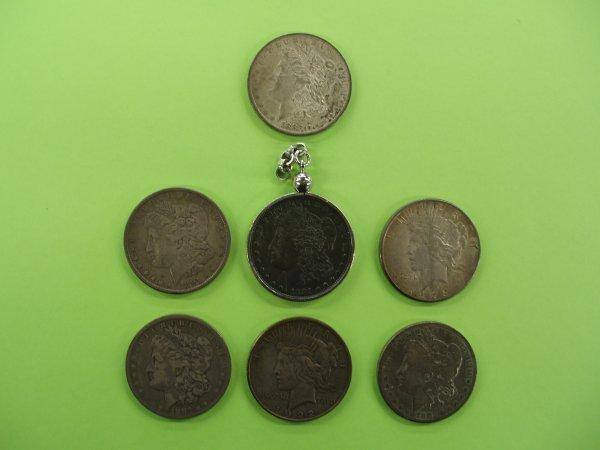 2022: 7 U.S. silver dollars