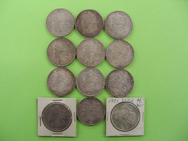 2023: 12 Morgan silver dollars