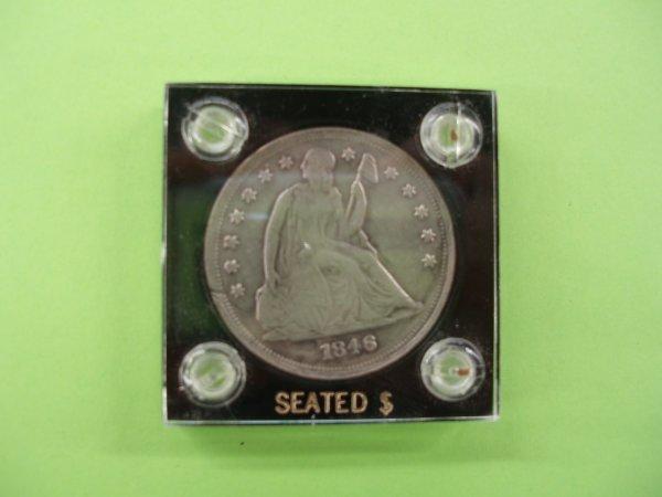 2045: 1846 Seated Liberty silver dollar