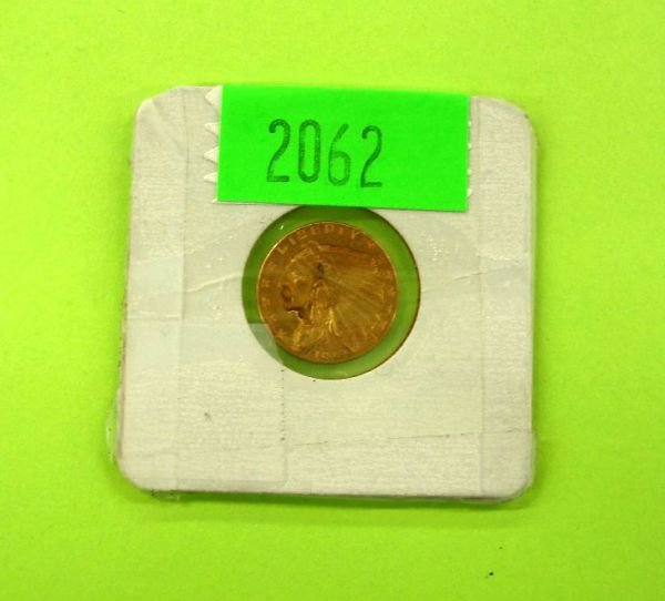 2062: 1912 U.S. $2 1/2 gold Indian