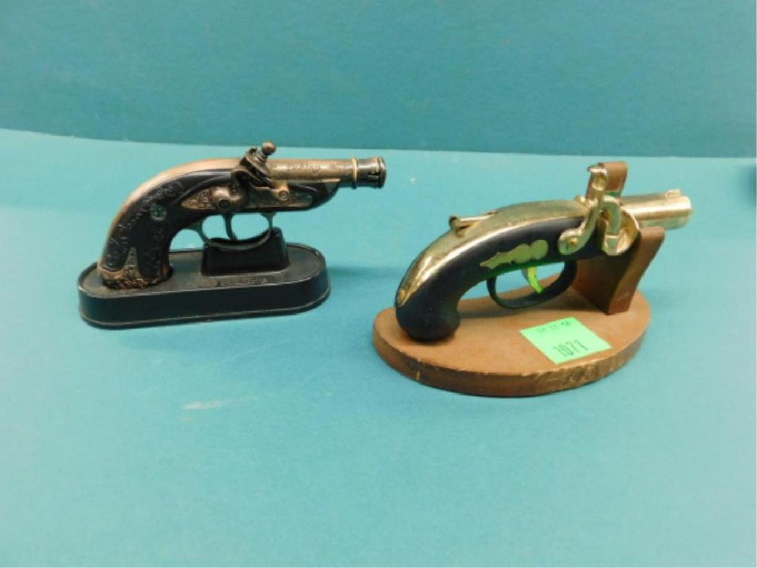 (2) Pistol form Cigarette Lighters
