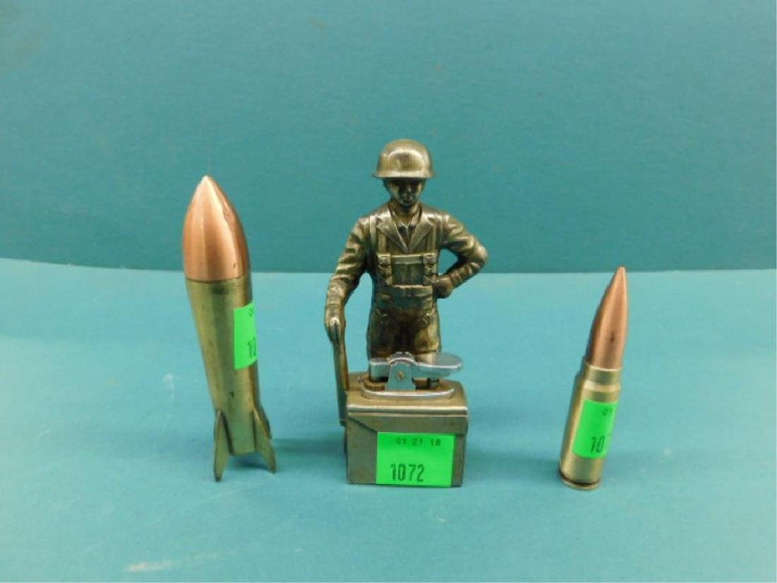 Soldier, Missle and Bullet Form Cigarette Lighters