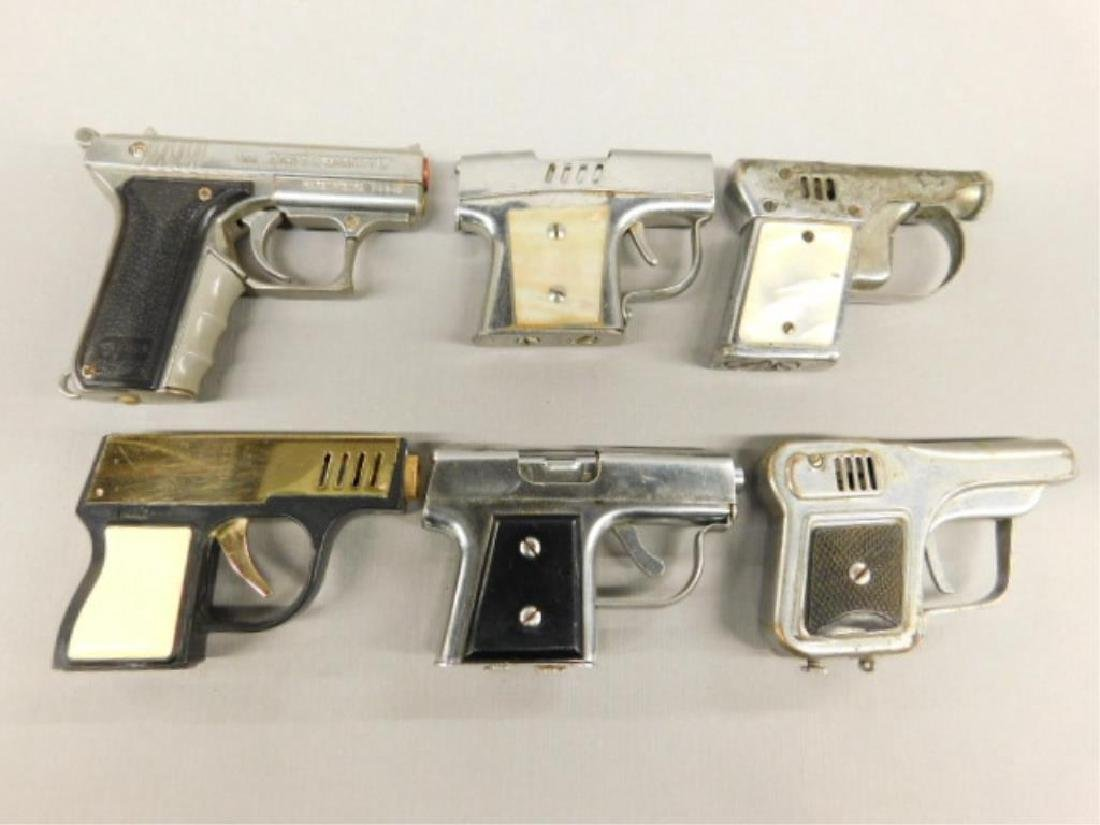 (6) Gun Form Cigarette Lighters