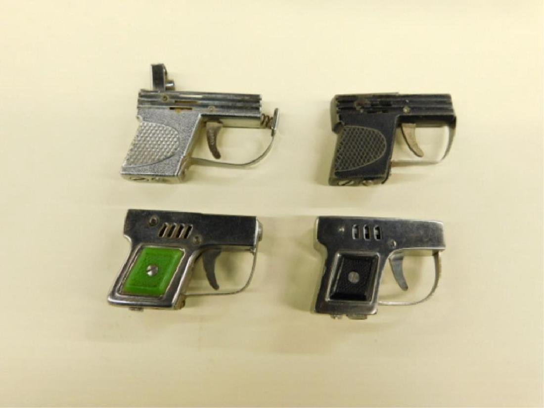 (4) Mini Semi Automatic Style Lighters