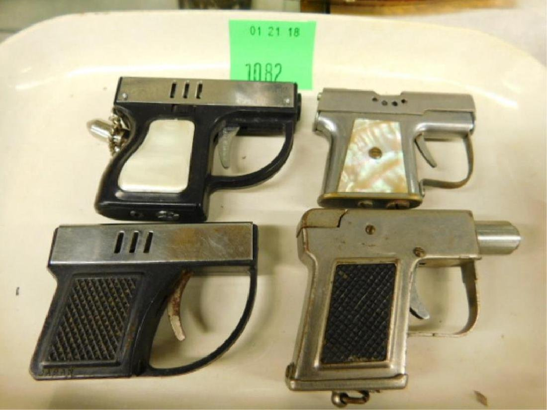 (4) Semi Automatic Pistol Form Lighters