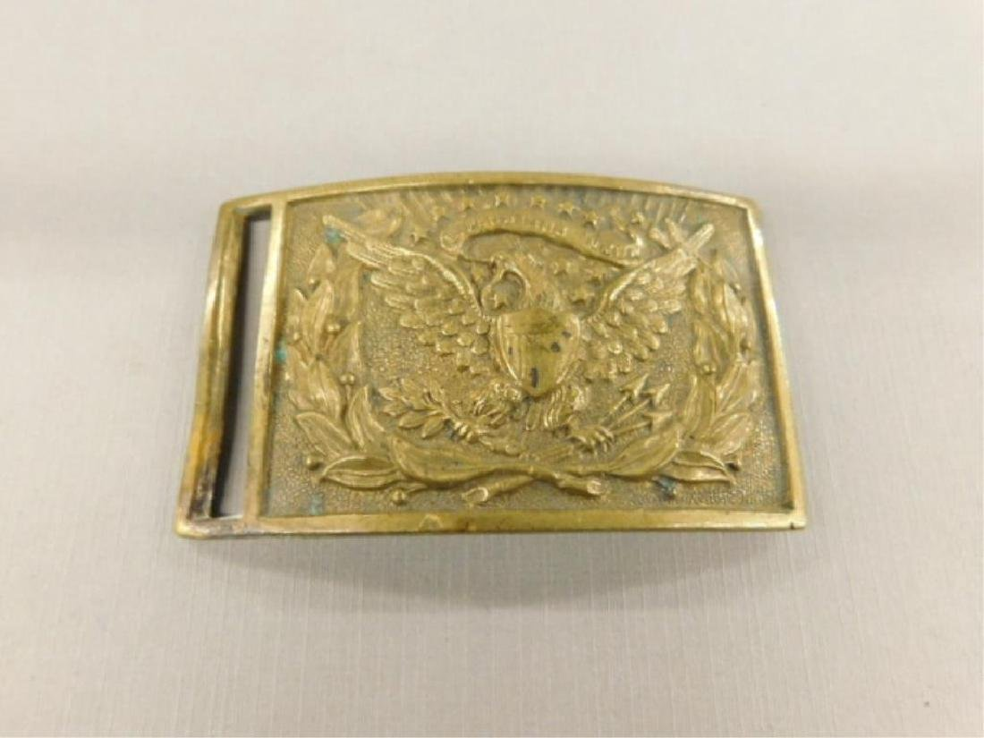 US Civil War Union Army Officers Belt Plate Buckle