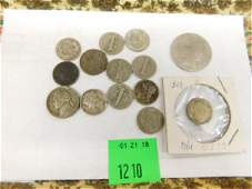Misc Silver Coins  Error Penny