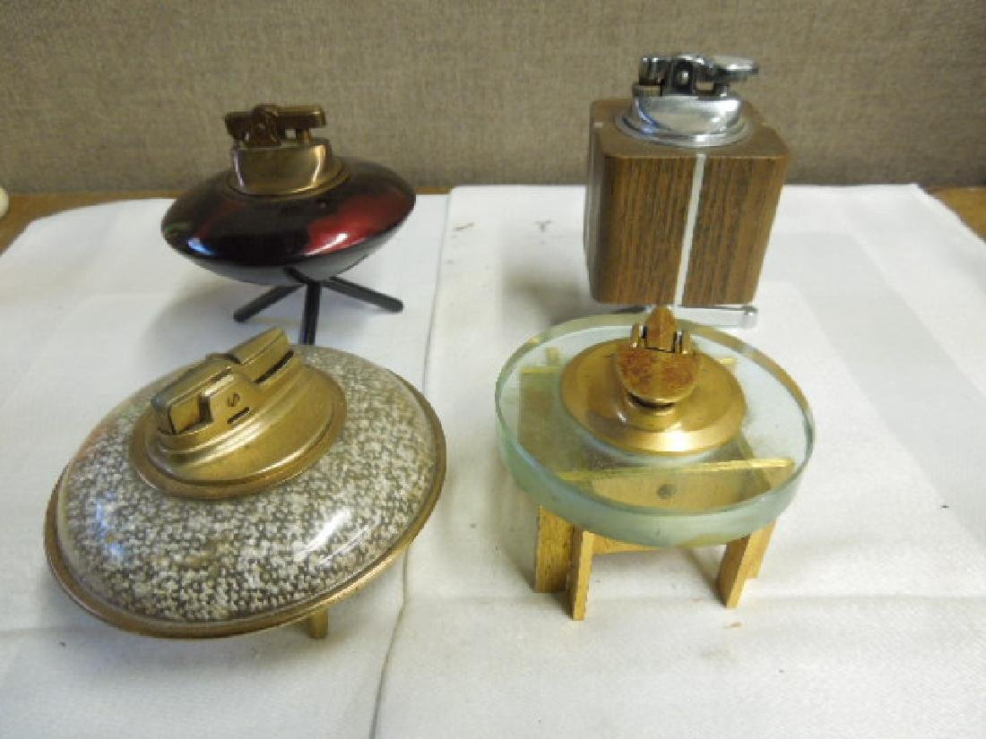 4 Vintage Ronson and Other Table Lighters