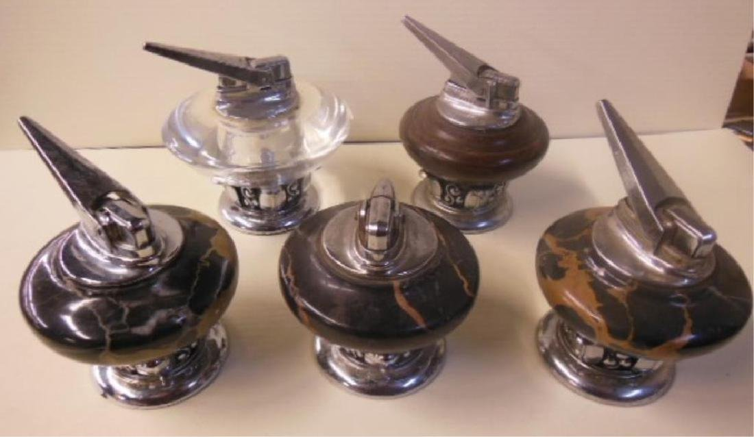 5 Vintage Ronson Table Lighters