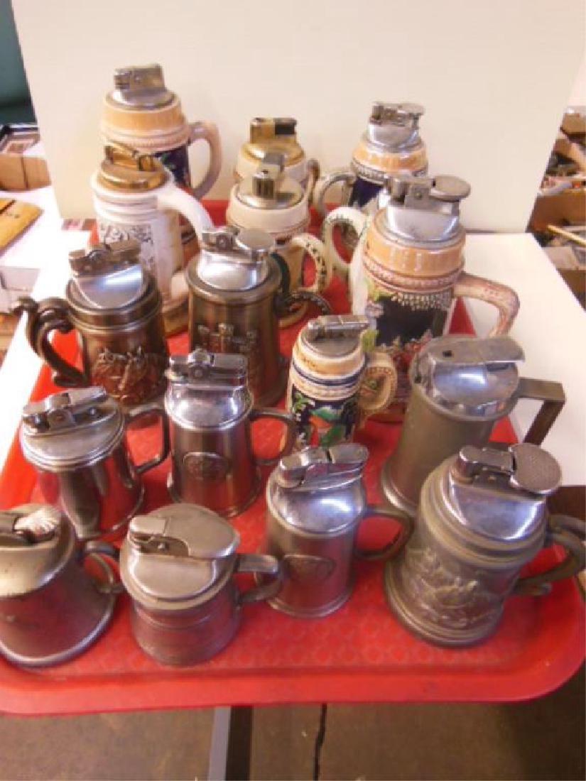 17 Vintage Stein Form Table Lighters