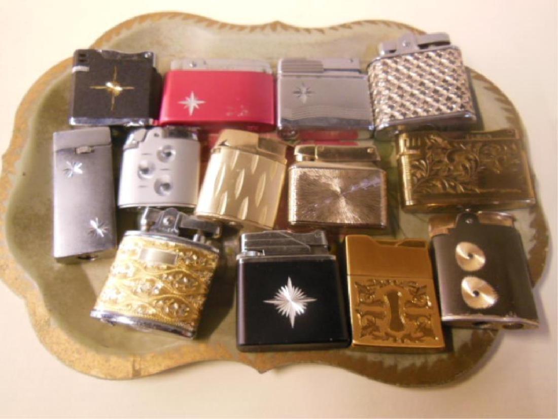 Vintage Silver & Gold Tone Pocket Lighter