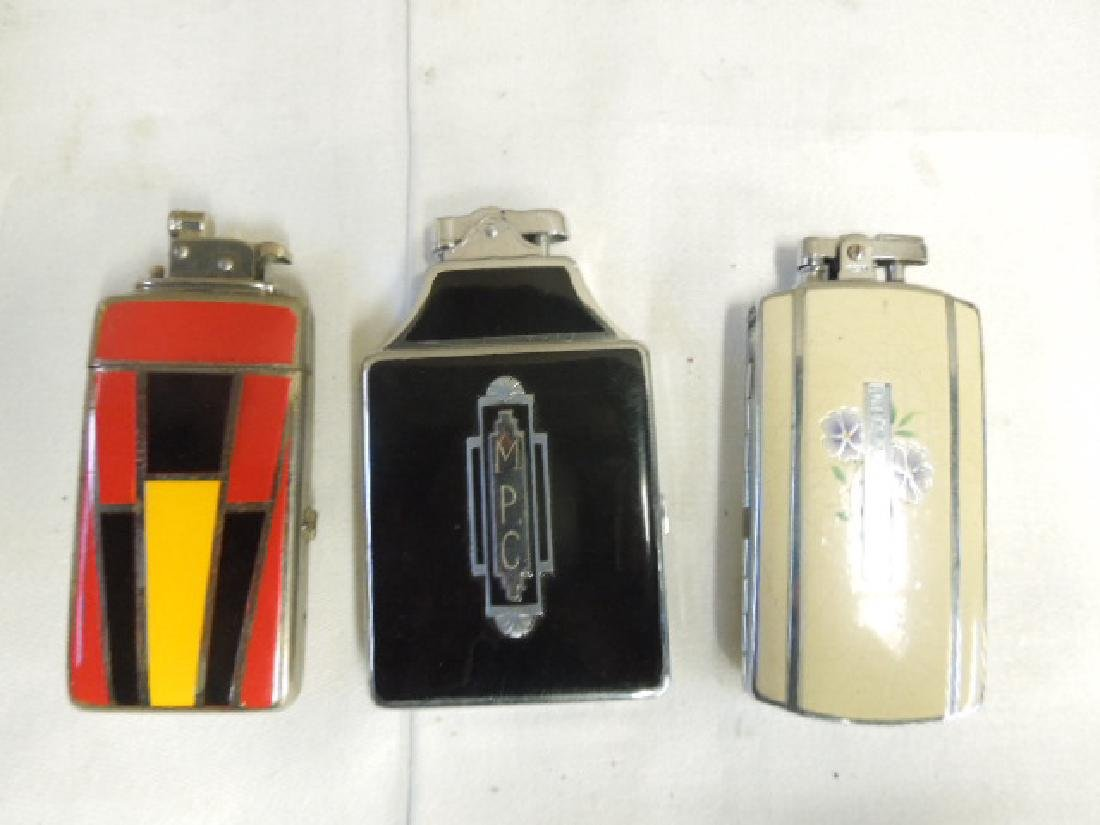 3 Vintage Cigarette Cases With Lighters