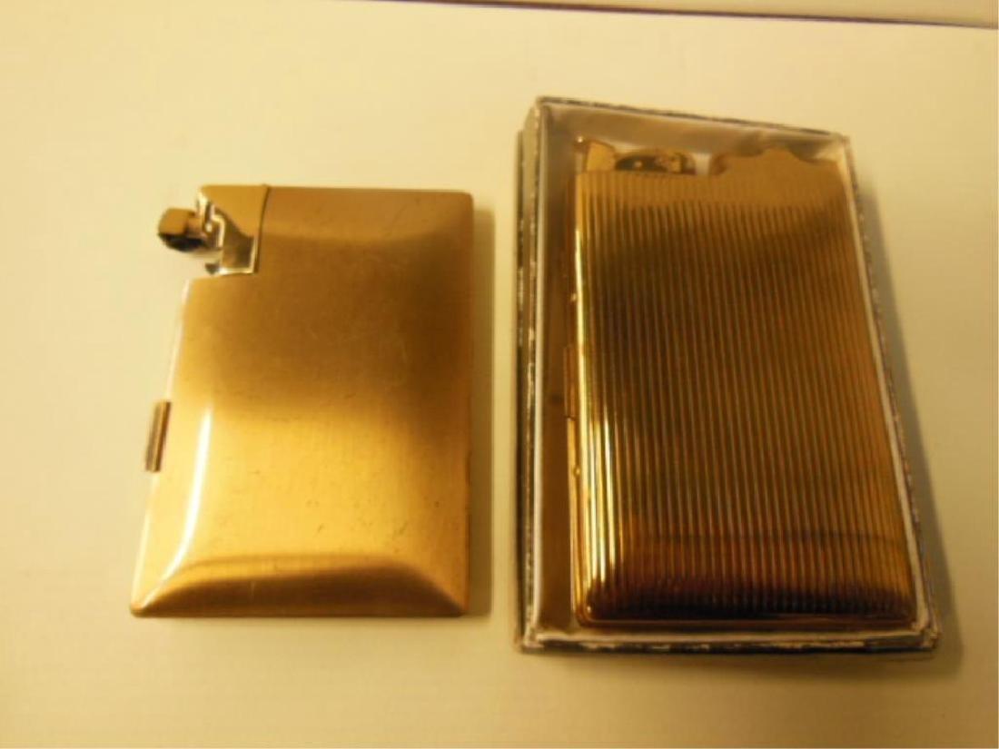 2 Vintage Cigarette Cases w /Lighters