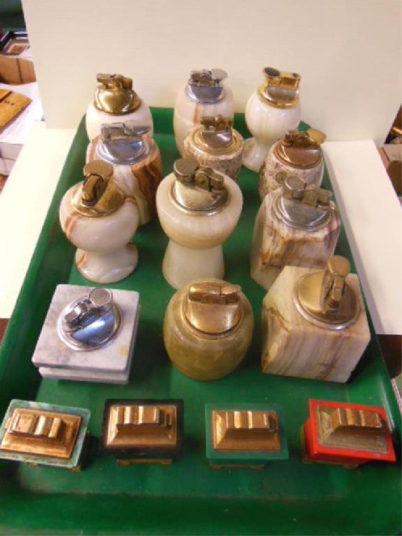 12 Alabaster & Marble Table Lighters