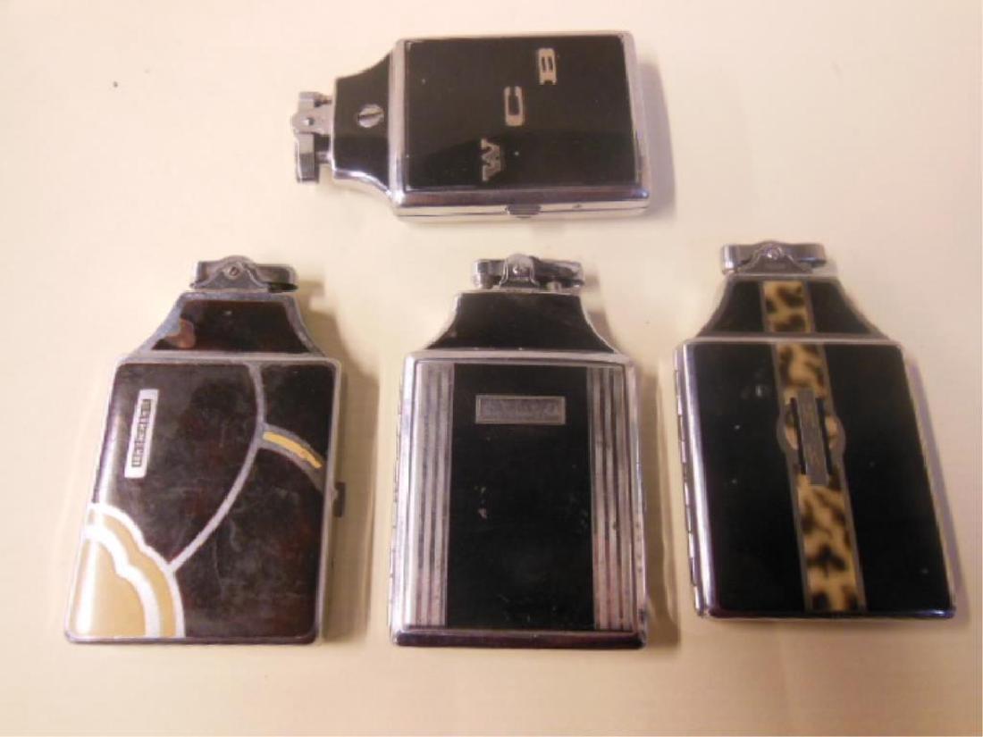 4 Vintage Ronson Cigarette Cases w/Lighters