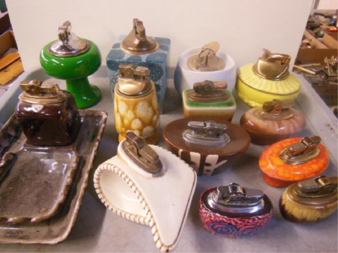 13 Vintage Porcelain Decorative Table Lighters