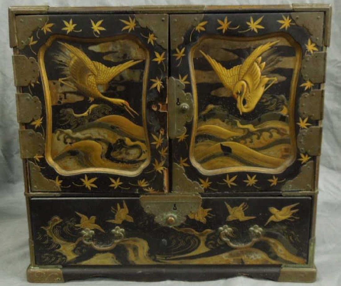 Japanese Lacquered Jewel Cabinet
