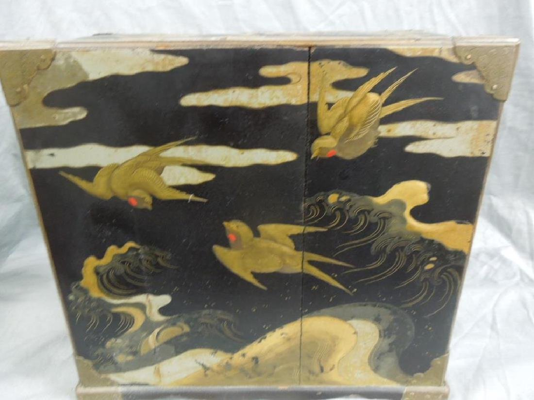 Japanese Lacquered Jewel Cabinet - 6