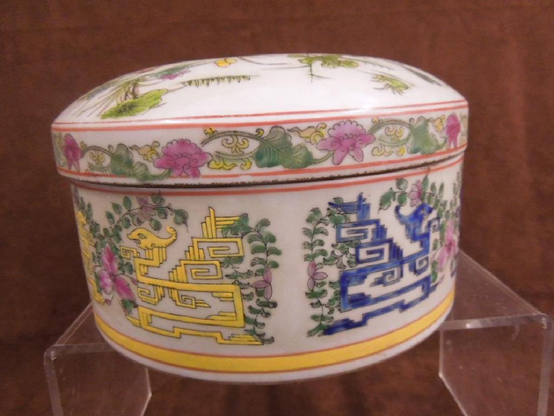 Chinese Porcelain Large Covered Box - 4