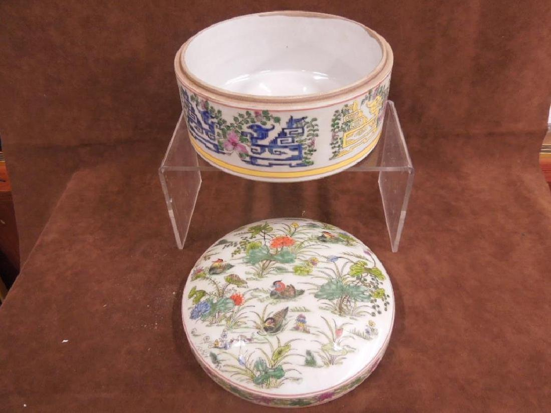 Chinese Porcelain Large Covered Box - 5