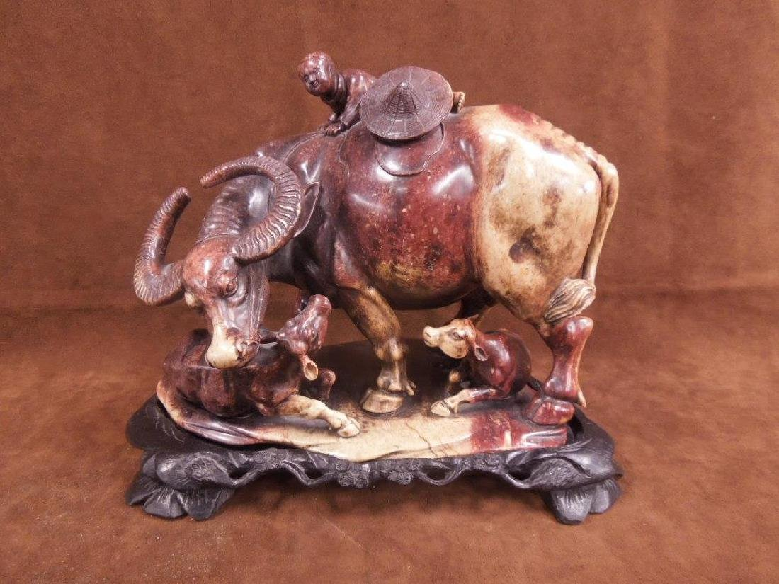 Chinese Soapstone Large Scale Carving
