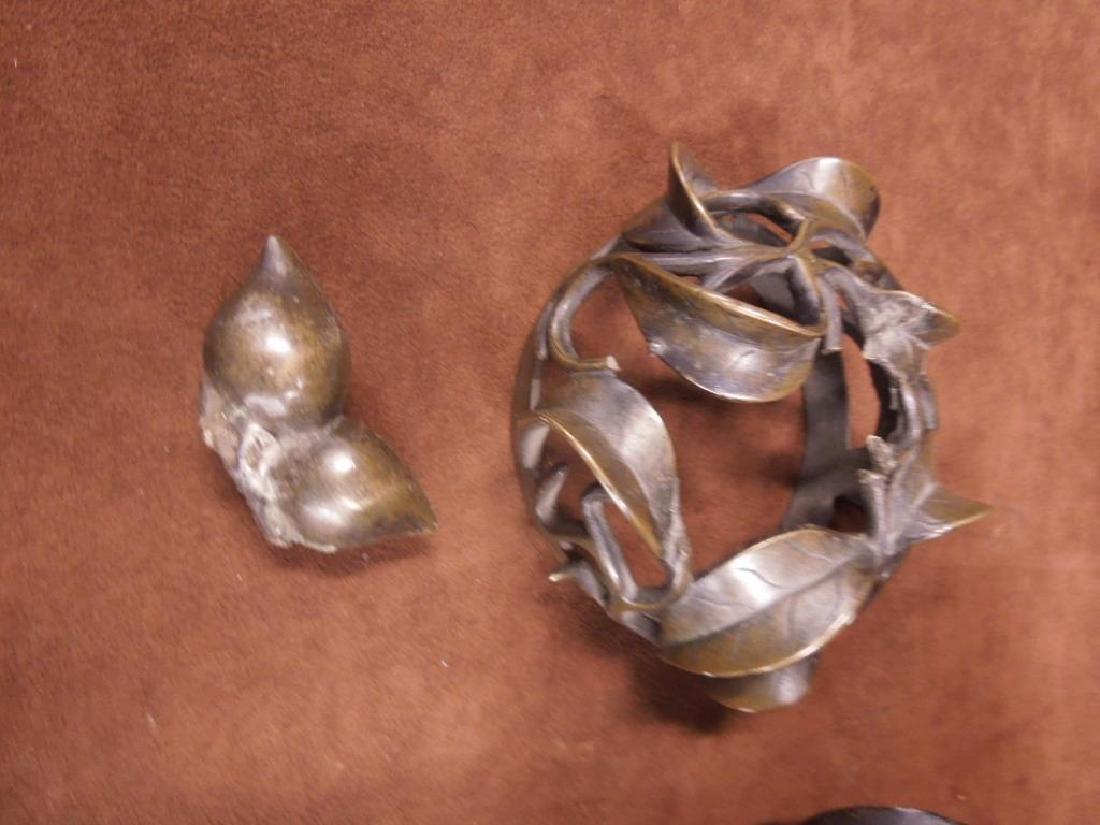 Chinese Bronze Incense Burner on Trivet - 5
