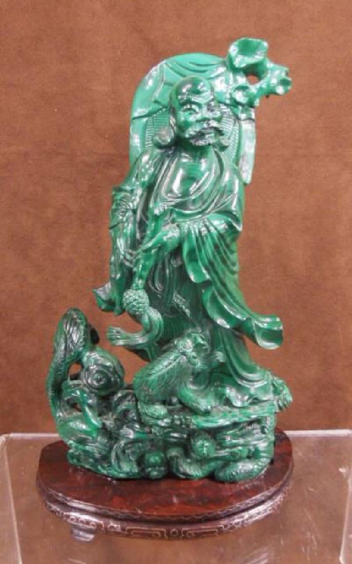 Chinese Malachite Carving
