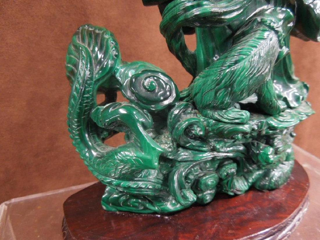 Chinese Malachite Carving - 6