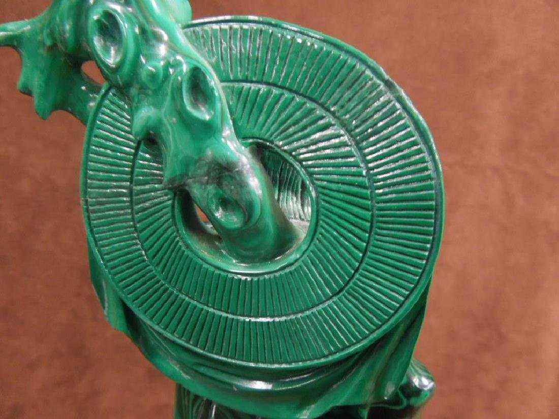 Chinese Malachite Carving - 9