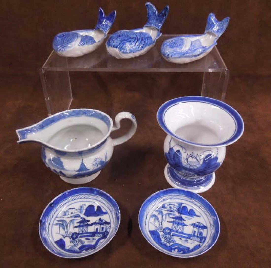 Chinese Blue & White Porcelain Group