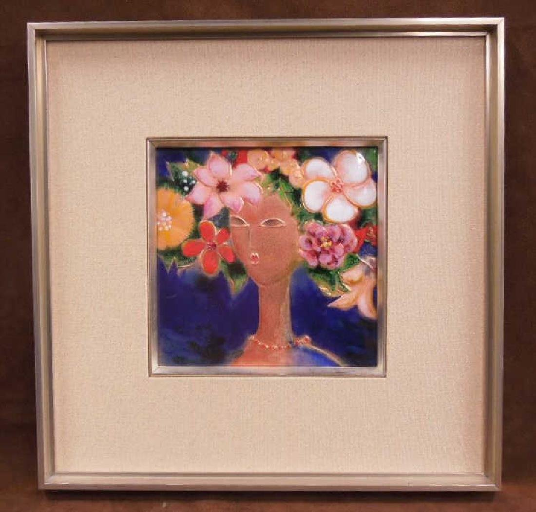 Japanese Enameled on Copper Plaque