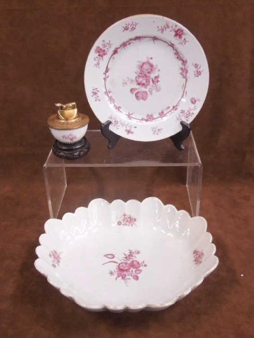 Chinese Export Bowl, Dish & Cup