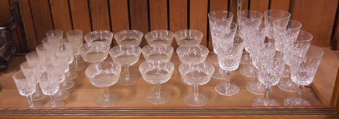 34 Pieces Waterford Crystal Stemware