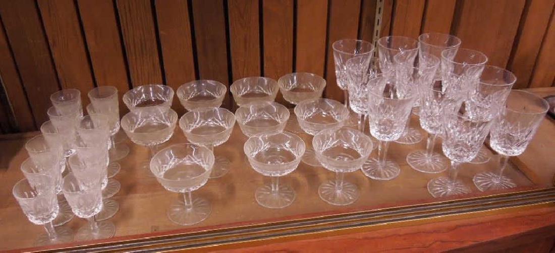 34 Pieces Waterford Crystal Stemware - 2