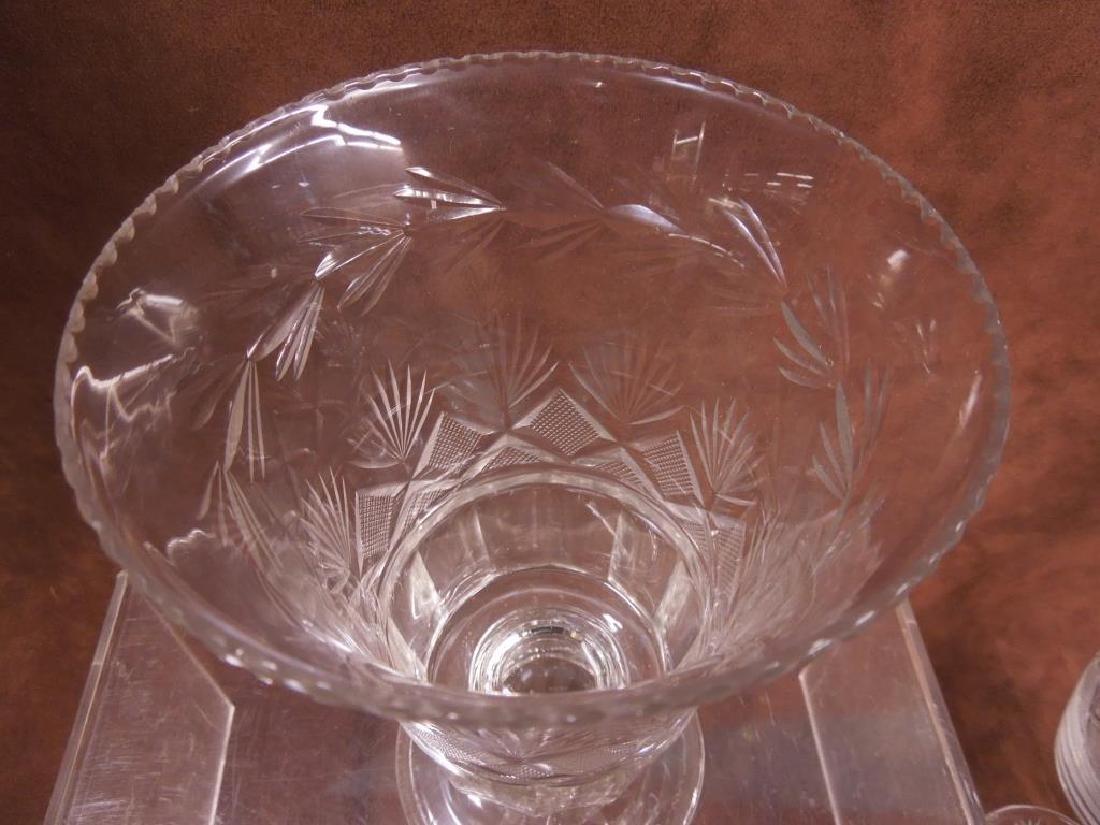 Flint Glass Decanter, Vase & Goblet - 2