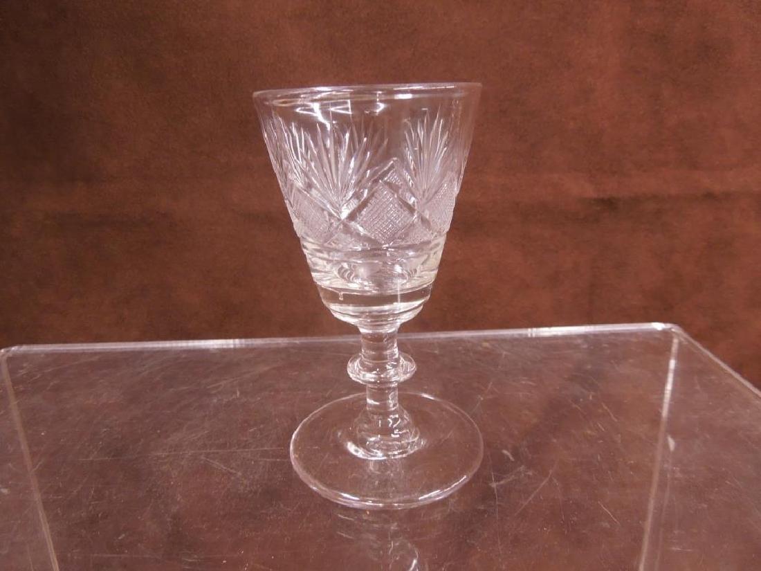 Flint Glass Decanter, Vase & Goblet - 3