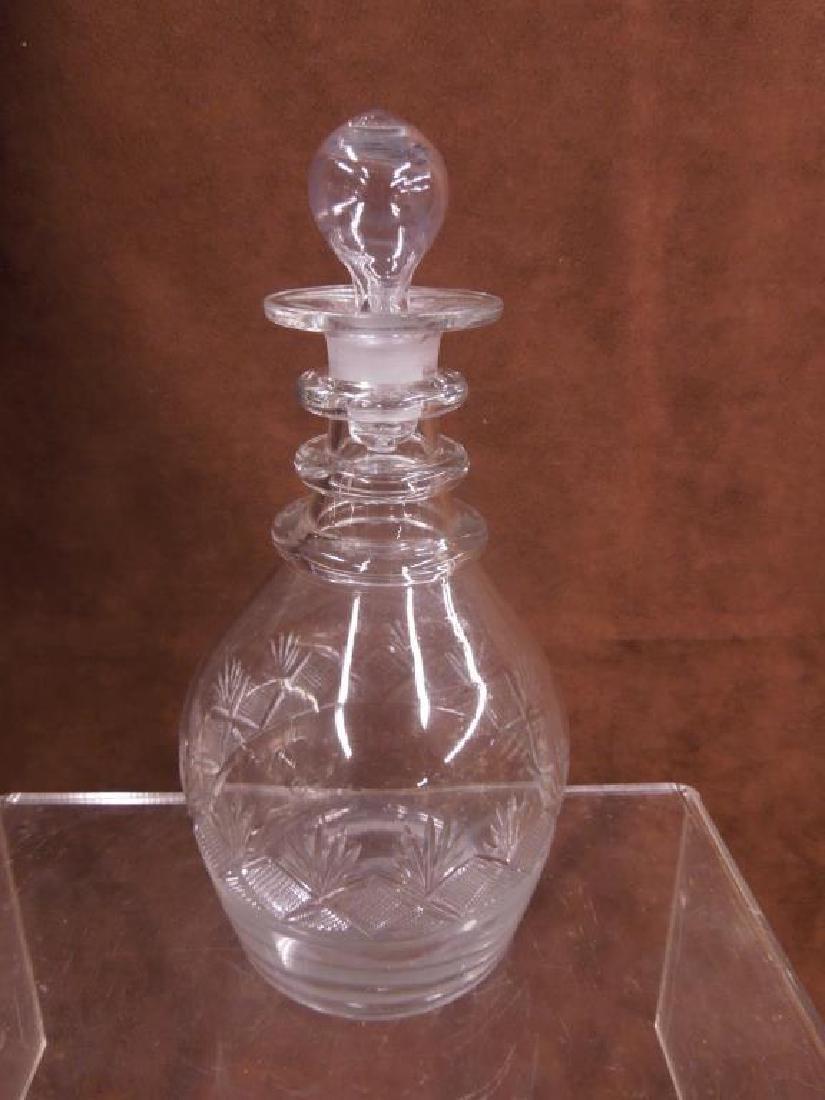 Flint Glass Decanter, Vase & Goblet - 4