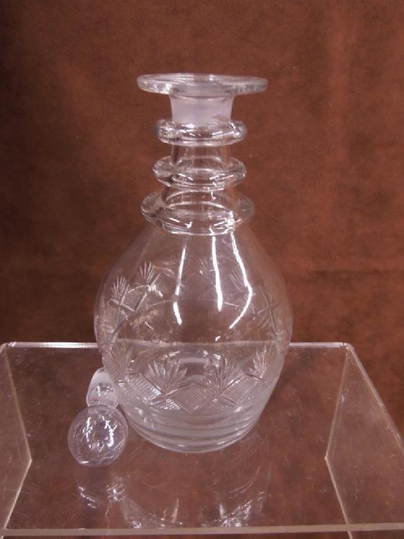 Flint Glass Decanter, Vase & Goblet - 5