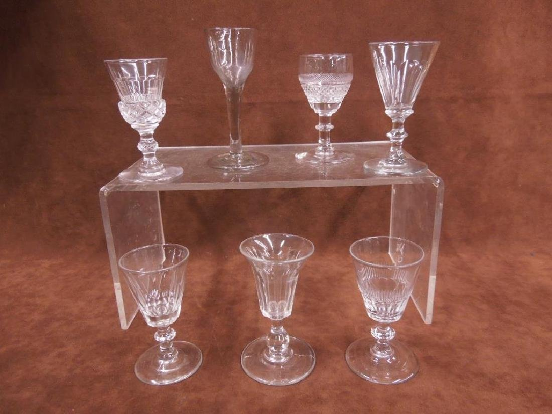 7 Flint Glass Goblets