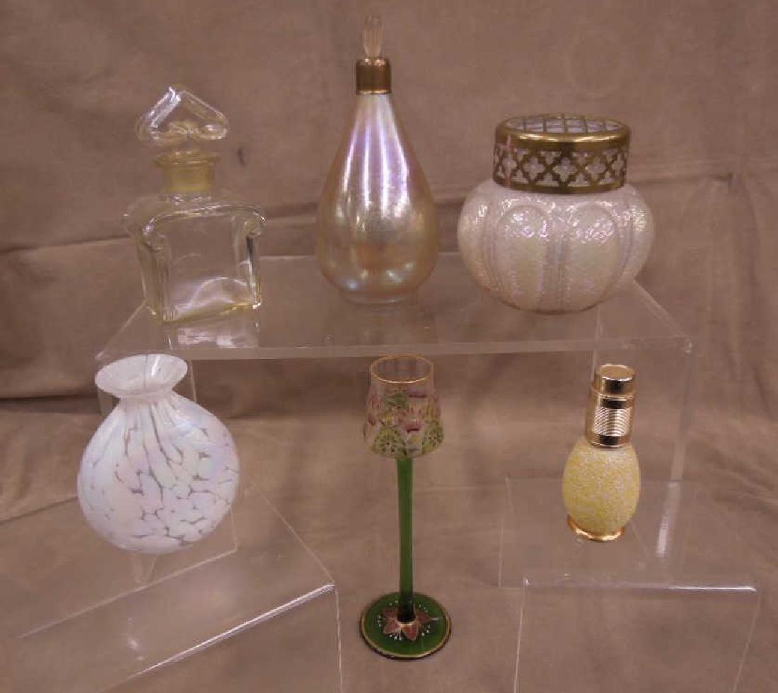6 Assorted Art Glass Group