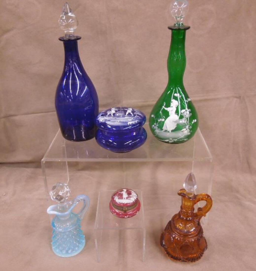 6 Colored Glass Grouping