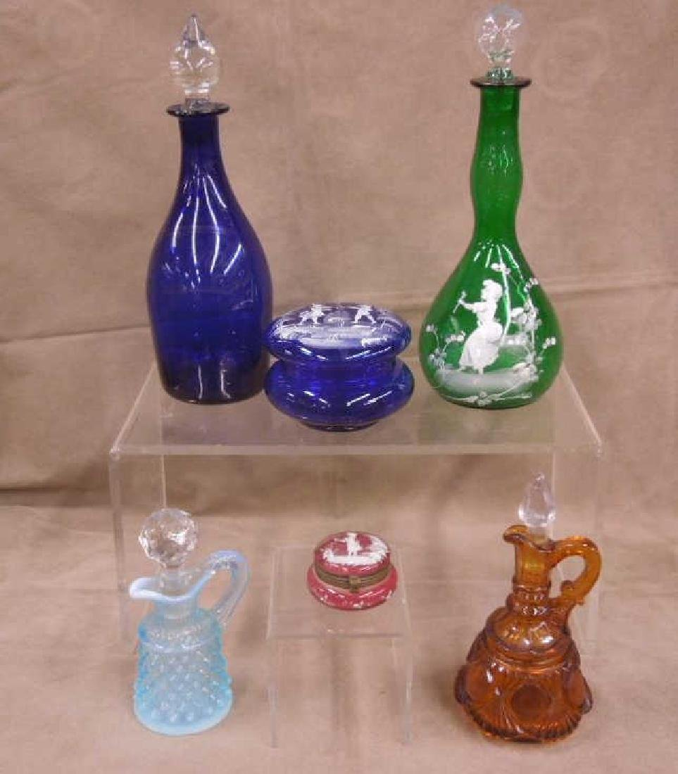 6 Colored Glass Grouping - 2
