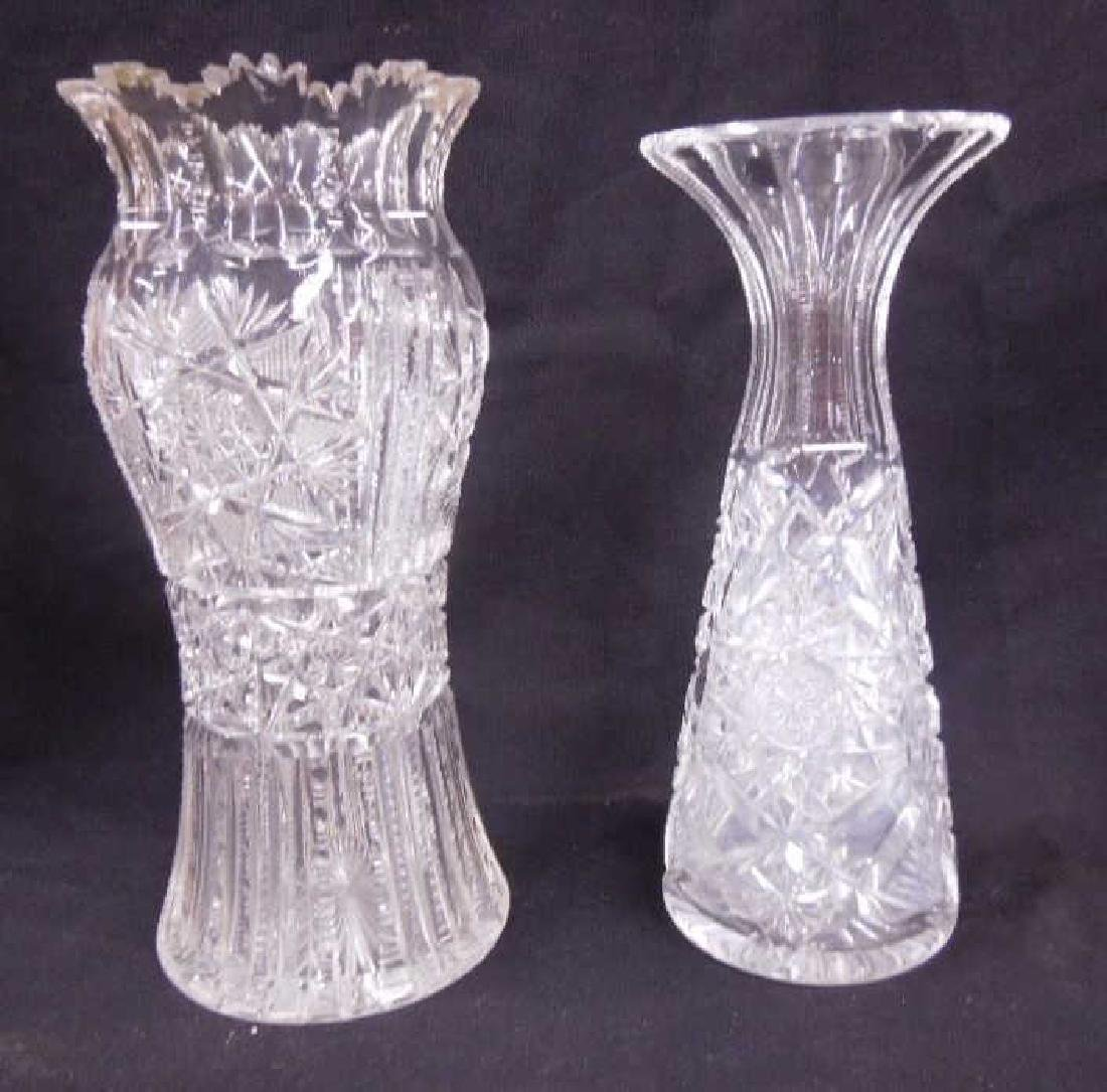 Two American Cut Glass Vases